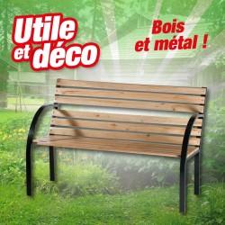 Outiror - Banc en bois et métal
