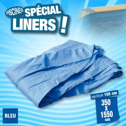 Outiror- Liner 75/100ème Bleu 350x1550 x H 155cm
