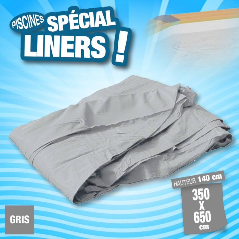 Outiror - Liner 75/100ème Gris 350x650 x H 140cm