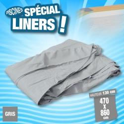 Outiror - Liner 75/100ème Gris 470 x 860 x H 130cm