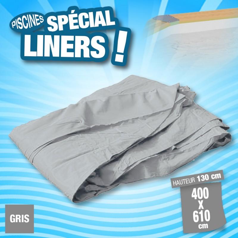 Outiror - Liner 75/100ème Gris 400x610 x H 130cm