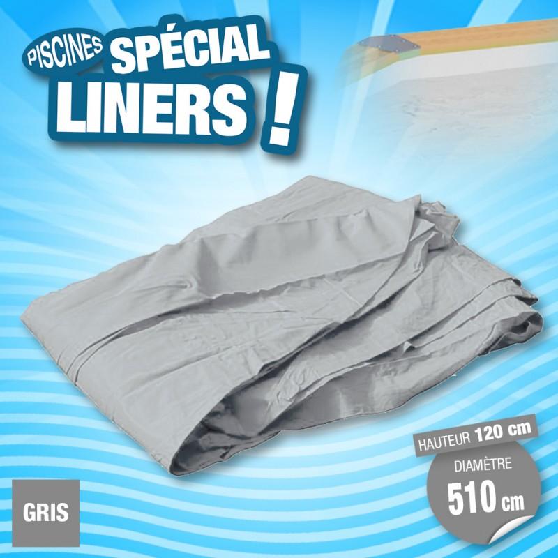 Outiror - Liner 75/100ème Gris 510 x H 120cm