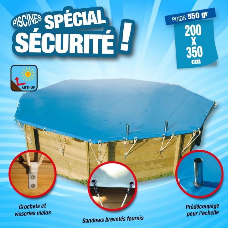 Outiror - Bâche de sécurité 550gr 200x350 cm