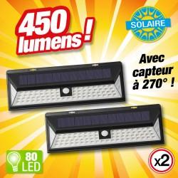 outiror - Lot de 2 projecteur solaire 80 LED - 1