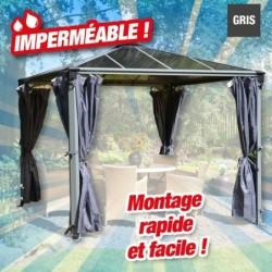 outiror Rideaux tonnelle 360x217 gris 176009190014