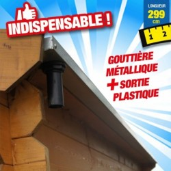outiror Gouttiere abri jardin bois Soleil 9 4 m2 176009190029