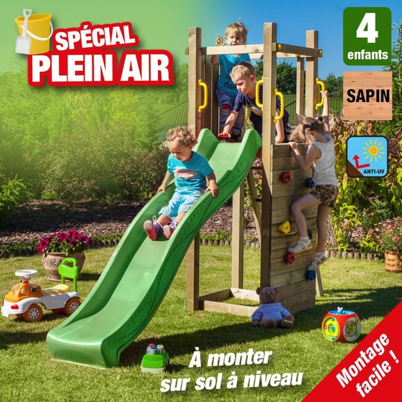 outiror Aire de jeu escalade jardin bois Zebulon 176009190032