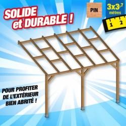 outiror Toit terrasse bois 3x3 7 m 176009190035