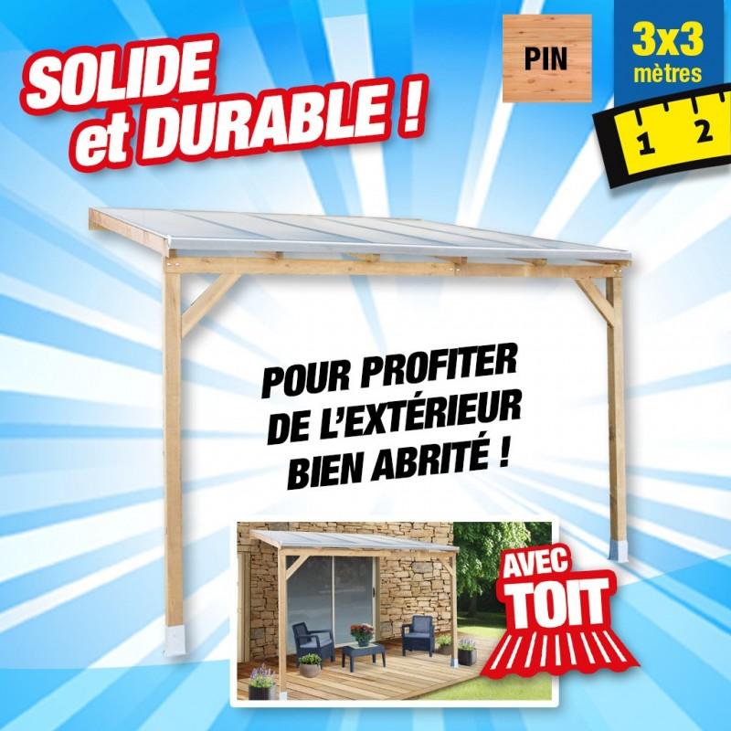 outiror Toit terrasse bois 3x3 m 176009190043