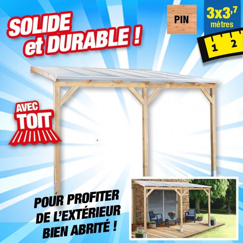 outiror Toit terrasse bois 3x3 7 m 176009190044