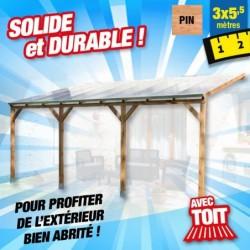 outiror Toit terrasse bois 3x5 5 m 176009190046
