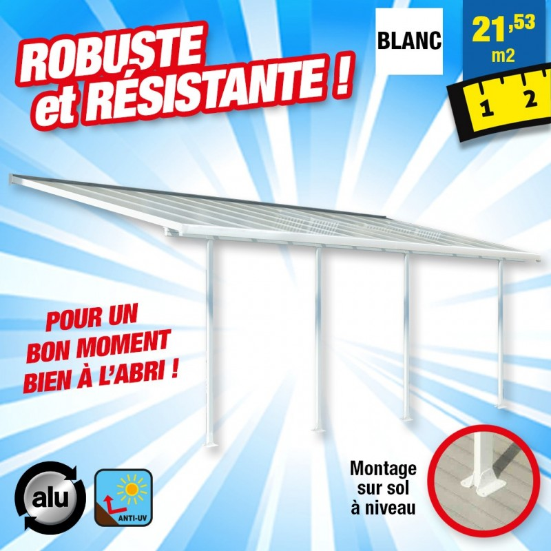outiror Toit terrasse alu polycarbonate Feria 37 blanc 176009190056