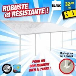 outiror Toit terrasse alu polycarbonate Feria 48 blanc 176009190058