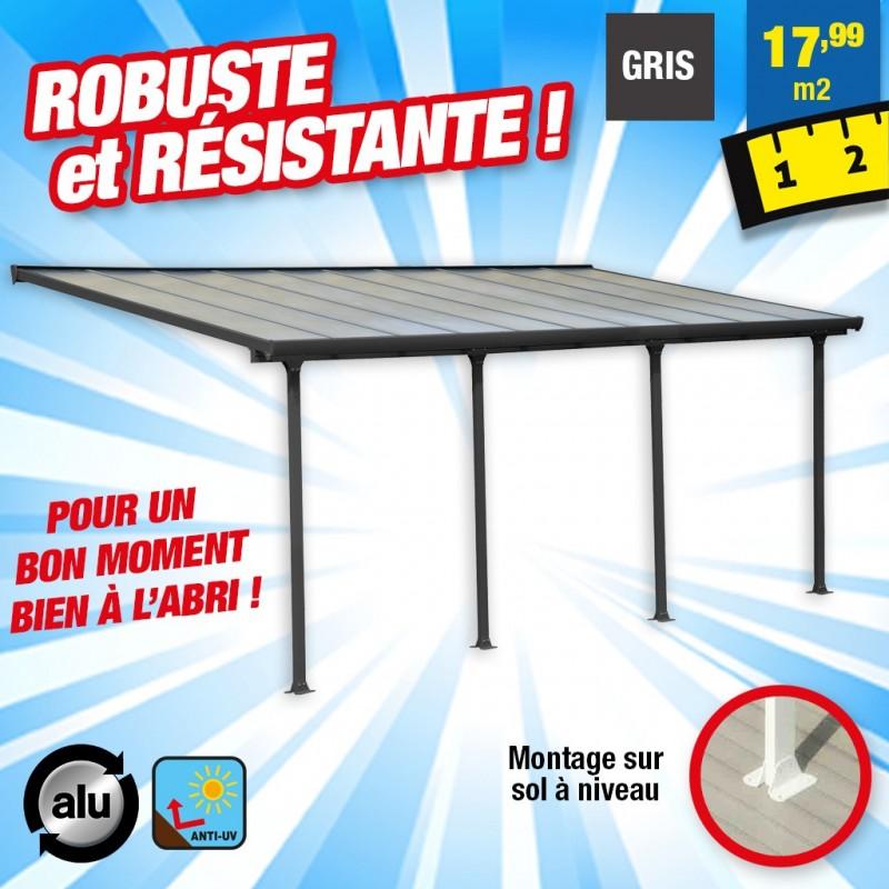 outiror Toit terrasse alu polycarbonate Feria 36 gris 176009190059
