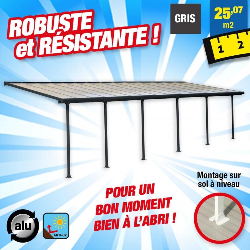 outiror Toit terrasse alu polycarbonate Feria 38 gris 176009190061