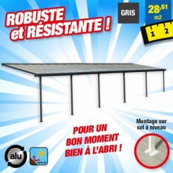 outiror Toit terrasse alu polycarbonate Feria 310 gris 176009190075