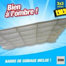 outiror Toile ombrage CouvTerrasse 3x3m ecru 176009190079