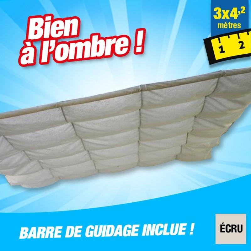outiror Toile ombrage CouvTerrasse 3x4 2m ecru 176009190081