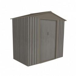 outiror Abri jardin metal Bois vieilli 64 2 4 m2 gris 176009190097 2