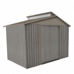 outiror Abri jardin metal Bois vieilli 9363 5 4 m2 gris 176009190100 2