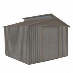 outiror Abri jardin metal Bois vieilli 9384 7 3 m2 gris 176009190101 2