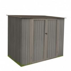 outiror Abri jardin metal Bois vieilli 75 3 3 m2 gris 176009190102 2