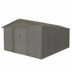 outiror Abri jardin metal Bois vieilli 1014 13 5 m2 gris 176009190104 2