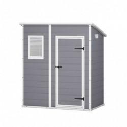 outiror Abri jardin resine Premium 64SP 2m2 gris Manor 176009190114 2