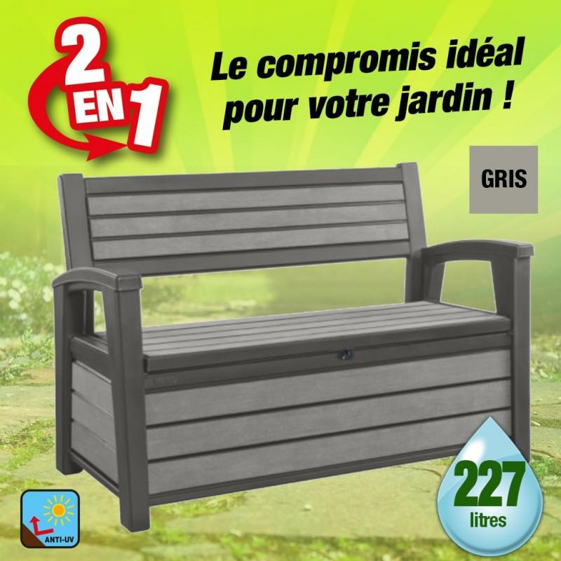 outiror Coffre banc jardin resine Brossium 227L 176009190130