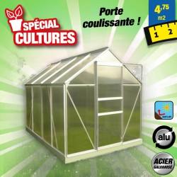 outiror Serre jardin polycarbonate Diamant 4.8m2 176009190111