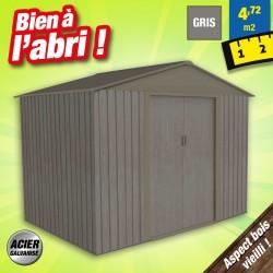 outiror Abri jardin metal Bois vieilli 86 4 7 m2 gris 176009190098