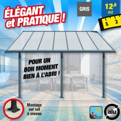 outiror Toit terrasse alu polycarbonate Elite 3x4 m 176009190085