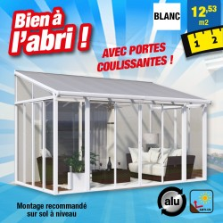 outiror Jardin hiver ferme alu 12 53m2 blanc 176009190078