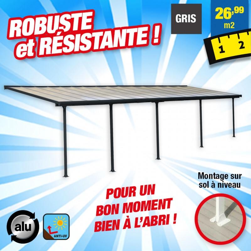 outiror Toit terrasse alu polycarbonate Feria 39 gris 176009190074