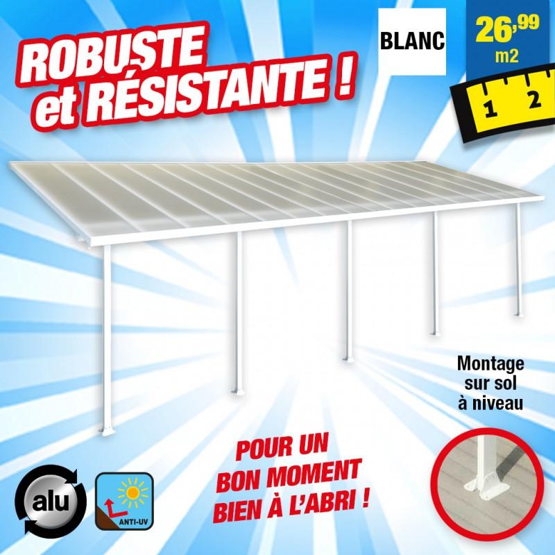 outiror Toit terrasse alu polycarbonate Feria 39 blanc 176009190072