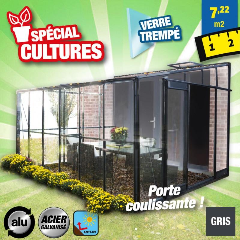 outiror Serre jardin verre trempe Solarium 126 72m2 176009190068