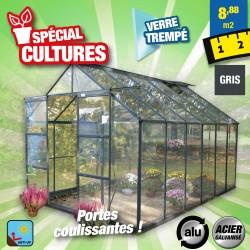 outiror Serre jardin verre trempe Sekurit 128 89m2 176009190067