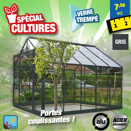 outiror Serre jardin verre trempe Sekurit 108 76m2 176009190066