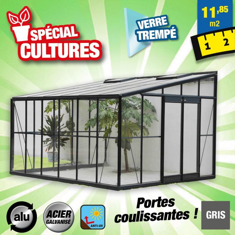 outiror Serre jardin verre trempe 4 mm 176009190062