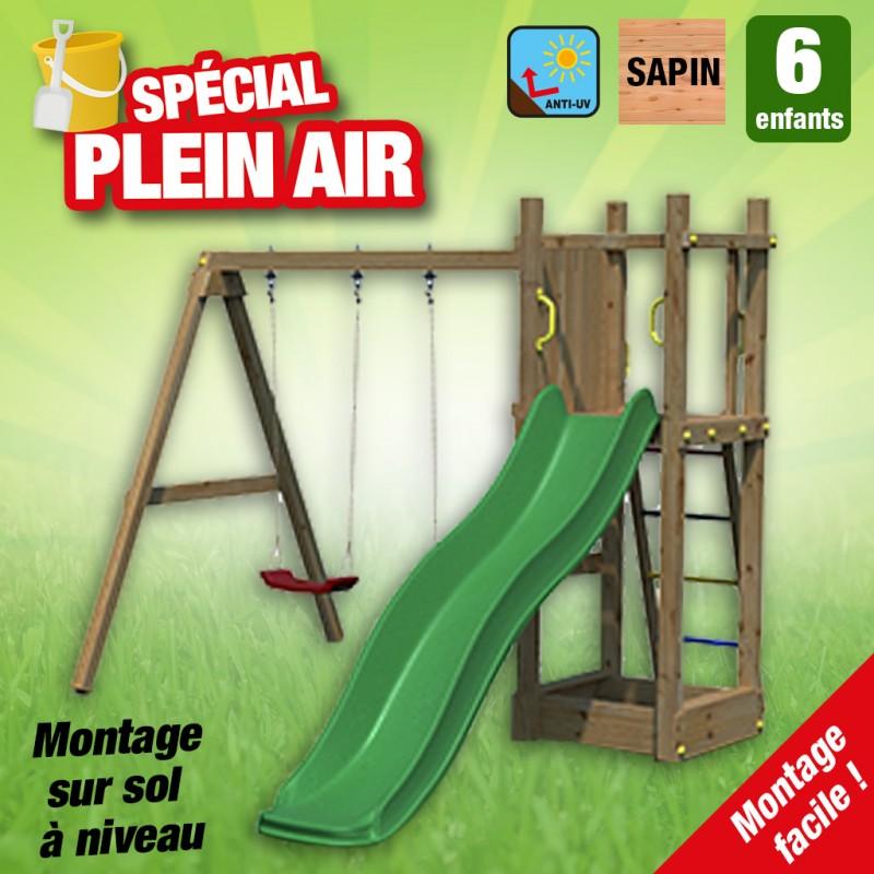outiror Aire de jeu Margote Toboggan balançoires 176009190054