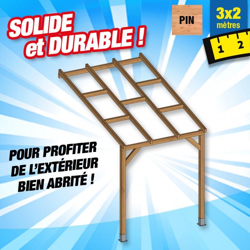 outiror Toit terrasse bois 3x2 m 176009190052