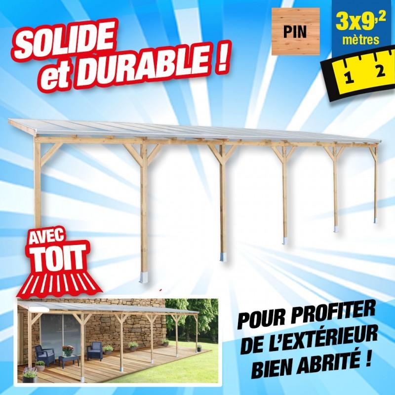 outiror Toit terrasse bois 3x9 2 m 176009190050