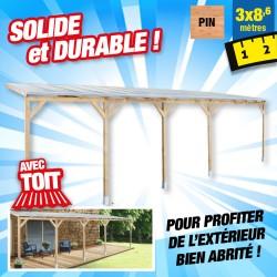 outiror Toit terrasse bois 3x8 6 m 176009190049