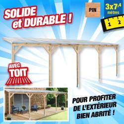 outiror Toit terrasse bois 3x7 4 m 176009190048