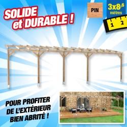 outiror Toit terrasse bois 3x8 6 m 176009190040