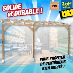 outiror Toit terrasse bois 3x4 9 m 176009190036