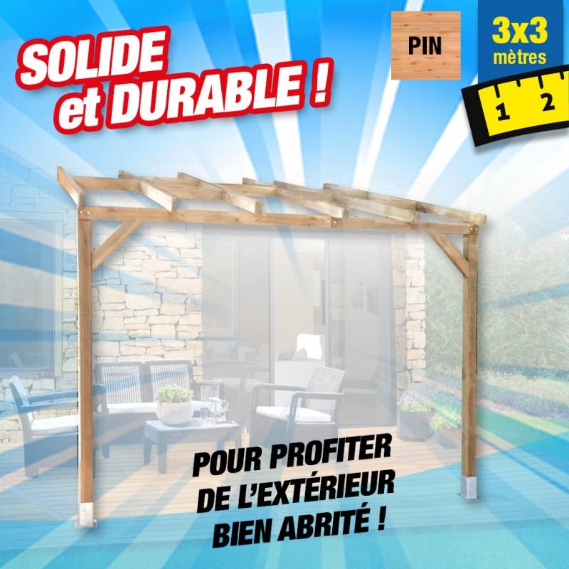 outiror Toit terrasse bois 3x3 m 176009190034