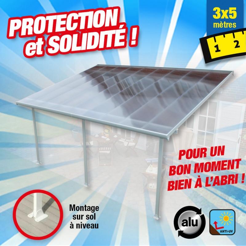 outiror Toit terrasse alu polycarbonate 3x5m 176009190005