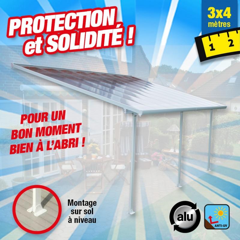 outiror Toit terrasse alu polycarbonate 3x4m 176009190004