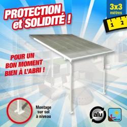 outiror Toit terrasse alu polycarbonate 3x3m 176009190003